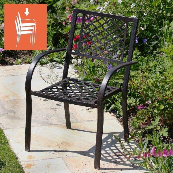 JANE Aluminium Tuinstoel - Antiek Brons