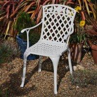 ROSE Aluminium Tuinstoel - Wit