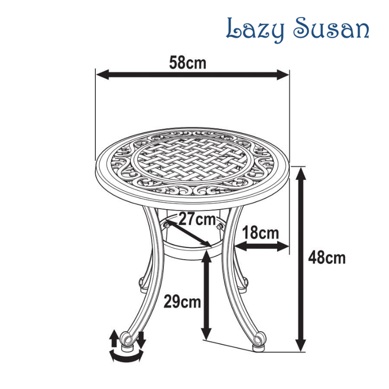 Ava Table Dimensions Diagram