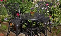 Bistro tafel ROSE in Antiek Brons