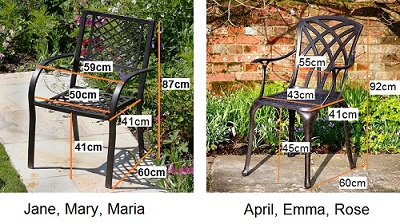 Lazy Susan Garden chair dimensions 1