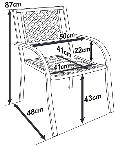 Jane Aluminium Stacking Chair